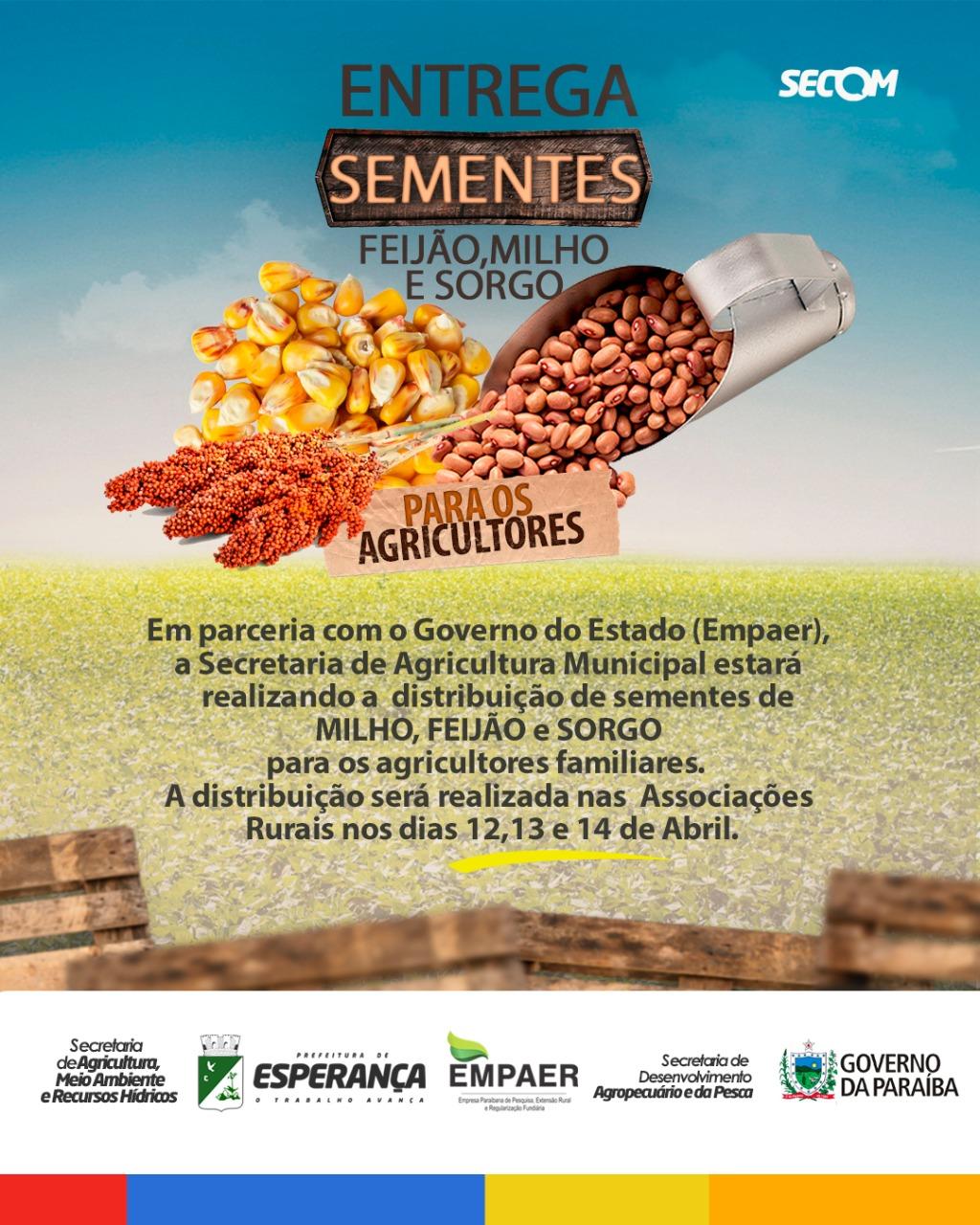 ➡️Distribuição de sementes!