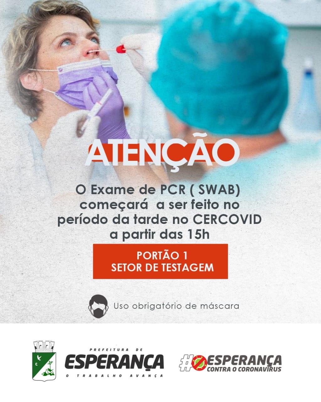 Exames de PCR (SWAB)